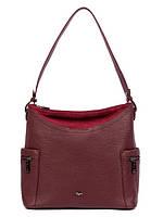 Ділова жіноча шкіряна сумка-бродяга-трансформер 2 в 1 в 2 кольорах L-DA82697