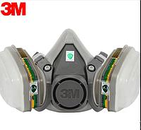 Респіратор 3М 6200+фільтра 6055+передфільтри 5935+фільтротримачі 501