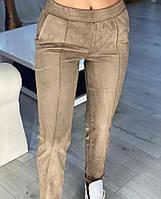 Женские брюки из замша на дайвинге  рр 40-42 и 44-46