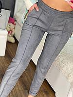 Женские брюки из замша на дайвинге  рр 48-50