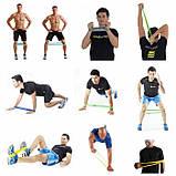 Фитнес резинки набор для домашних тренировок из 4 шт, фото 3