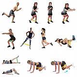 Фитнес резинки набор для домашних тренировок из 4 шт, фото 4