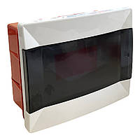 Распределительный  щиток  пластиковый для монтажа в стену 9 модулей