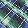 Фланель (байка) у синьо-зелену клітинку, ширина 150 см