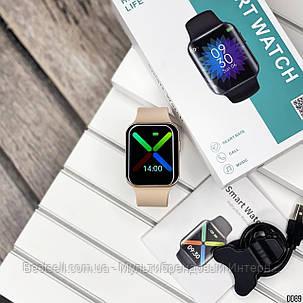 Смарт годинники наручні Modfit T68 All Gold рожеві / смарт годинник модфит, фото 2