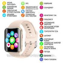 Смарт годинники наручні Modfit T68 All Gold рожеві / смарт годинник модфит, фото 3