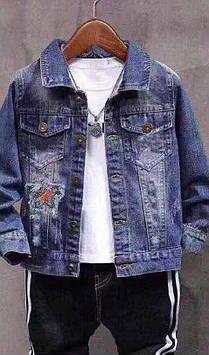 Куртка джинсовая на мальчика Звезда