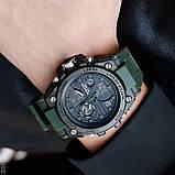 Мужские спортивные часы Sanda 739 Green-Black, фото 2