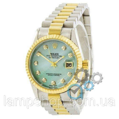 Rolex Date Just 067 Pearl Silver-Gold-Turquoise