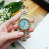 Rolex Date Just 067 Pearl Silver-Gold-Turquoise, фото 4