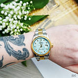 Rolex Date Just 067 Pearl Silver-Gold-Turquoise, фото 5