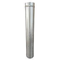 Труба ø150 мм 0,8 мм 1 метр AISI 321 Stalar дымоходная одностенная для дымохода бани сауны из нержавеющей стал, фото 2