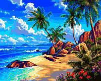 Картина малювання за номерами Babylon Морський берег VP1293 40х50см набір для розпису, фарби, кисті, полотно, фото 1