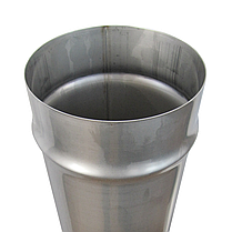 Труба ø150 мм 0,8 мм 1 метр AISI 321 Stalar дымоходная одностенная для дымохода бани сауны из нержавеющей стал, фото 3