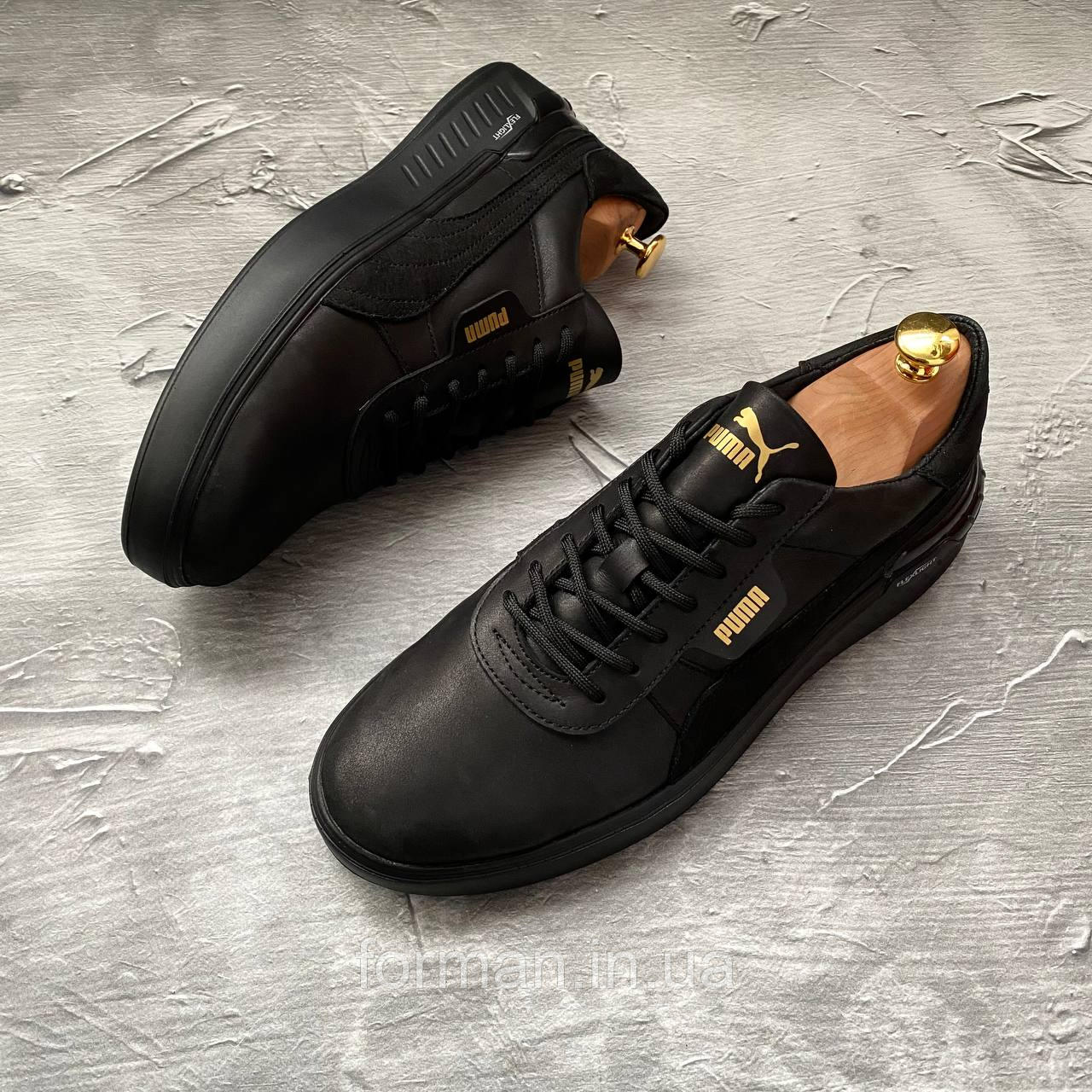 Чоловічі шкіряні кросівки Puma, чорні
