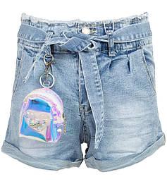 Голубые джинсовые шорты на девочку