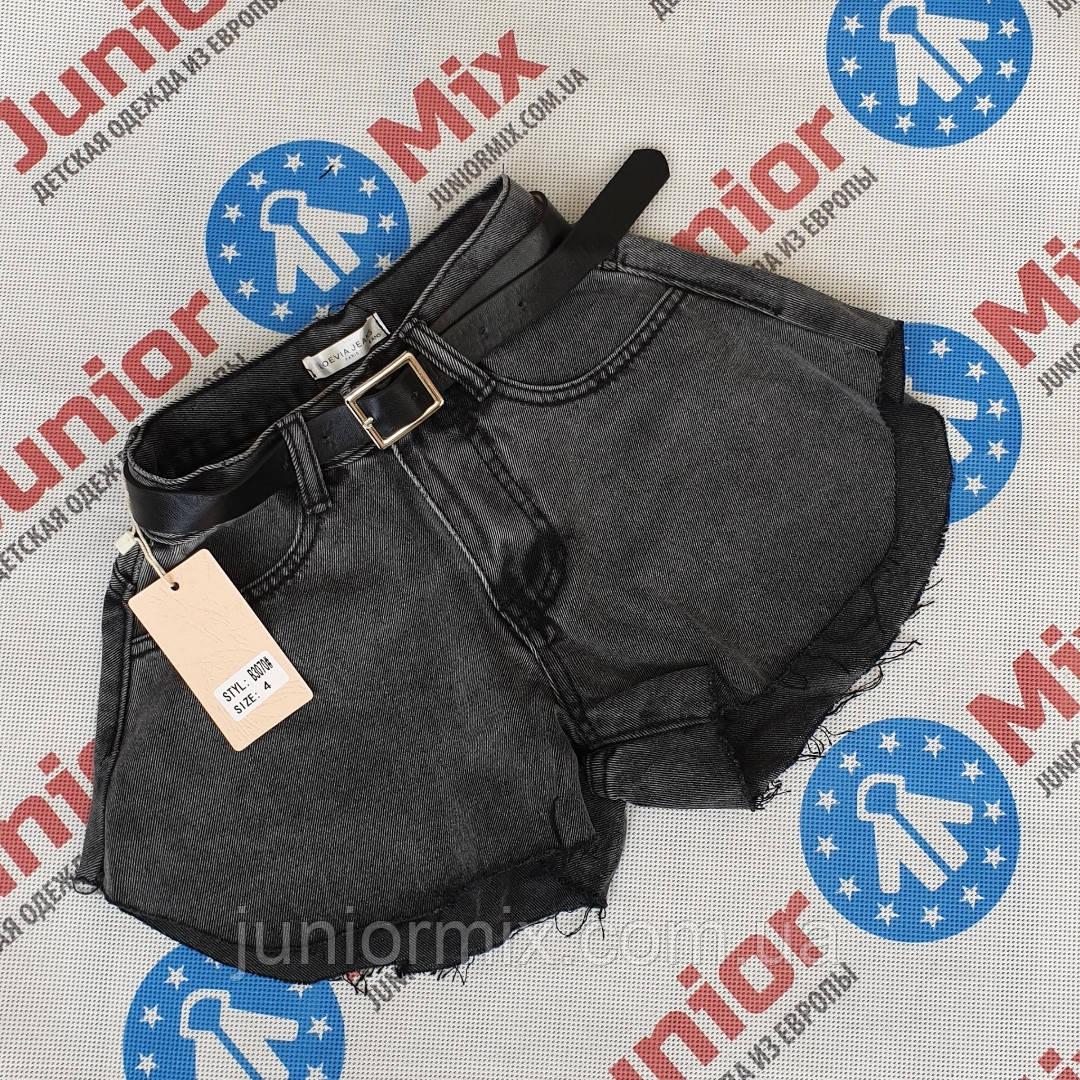 Детские джинсовые шорты для девочек оптом  4---14лет