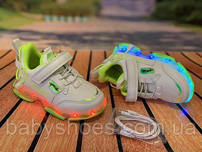 Кроссовки LED  для девочки Jong Golf р.26-31, КД-632