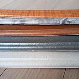 Плінтус багет гнучкий самоклеючий Білий з візерунком 235*8 см, фото 4