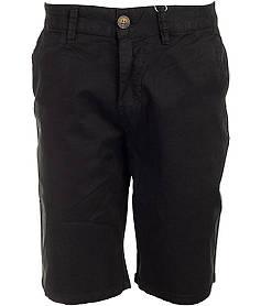 Котонові чоловічі чорні шорти у великому розмірі