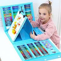 Набор для рисования в кейсе на 176 предметов, голубой (GIPS), Различные наборы для детского творчества
