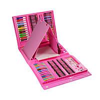 Набор для рисования в кейсе на 176 предметов, розовый (GIPS), Различные наборы для детского творчества