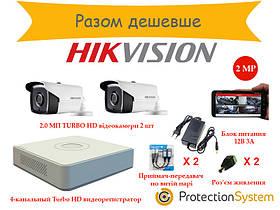 Комплект видеонаблюдения HikKit03 THD 2cam 2MP