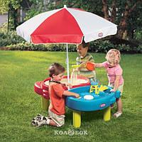 Дитяча пісочниця-стіл - Тиха Гавань (для піску і води, з аксесуарами) + БЕЗКОШТОВНА ДОСТАВКА