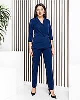 Классический костюм двойка (брюки и жакет), арт М699, цвет синий