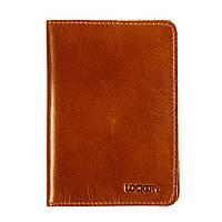 Обкладинка для паспорта з RFID захистом коньяк LOCKER's Pas2 Cognac