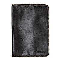 Обкладинка для паспорта з RFID захистом коричнева LOCKER's Pas2 Brown