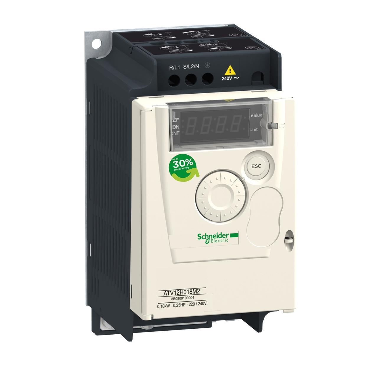 Преобразователь частоты ATV12H037M2 0,37 кВт  200-240В  50/60Гц, 1ф, 2.4А