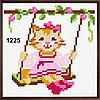 Набор для вышивания в ассортименте (ткань с рисунком, мулине, игла) 11*11 см, фото 3