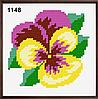 Набор для вышивания в ассортименте (ткань с рисунком, мулине, игла) 11*11 см, фото 7