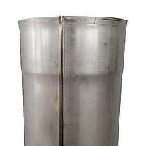 Труба ø300 мм 1 мм 1 метр AISI 321 Stalar дымоходная одностенная для дымохода бани сауны из нержавеющей стали, фото 2