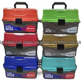 Ящик для снастей - Nisus Tackle Box - 3 полки.Отличный подарок. 6 видов цветов .Ящик для рыбалки
