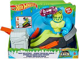 Трек Хот Вилс Атака ядовитой гориллы Mattel Hot Wheels Toxic Ape Attack