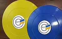Летающие тарелки Фрисби для рекламы с наклейкой текста или логотипа