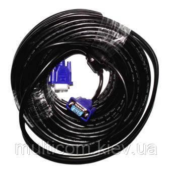 05-06-314. Шнур VGA (штекер - штекер), с фильтром, Full HD (1080р), AtCom, 30м