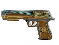 Деревянный пистолет Beretta Desert Eagle ХРОМ Резинкострел