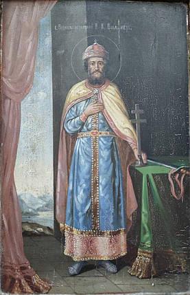Икона св. князь Владимир 19 век, фото 2