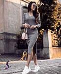Жіноче плаття, трикотаж, р-р 42-44; 46-48 (графіт), фото 3