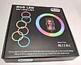 Кільцева світлодіодна лампа 26см RGB USB - для Селфі Блогера - з Тримачем для телефону (1005), фото 6
