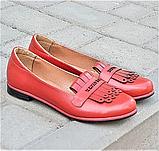 Женские лоферы красные в стиле tassel loafers, фото 2