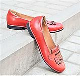 Женские лоферы красные в стиле tassel loafers, фото 3