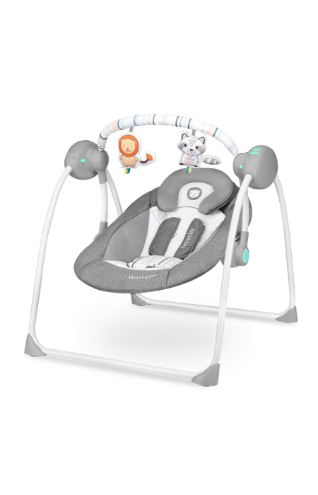 Детское кресло-качалка Lionelo RUBEN GREY TURQUOISE