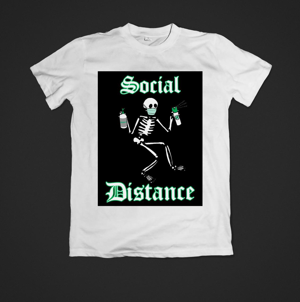 Футболка YOUstyle жіноча Social distance 0525 XXL White