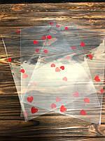 """Пакети поліпропіленові обрізної з малюнком """"серце"""" 30*20 см, 20 шт, фото 1"""