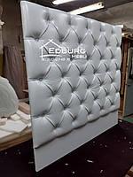 Изголовье кровати Каретная стяжка экокожа, фото 1