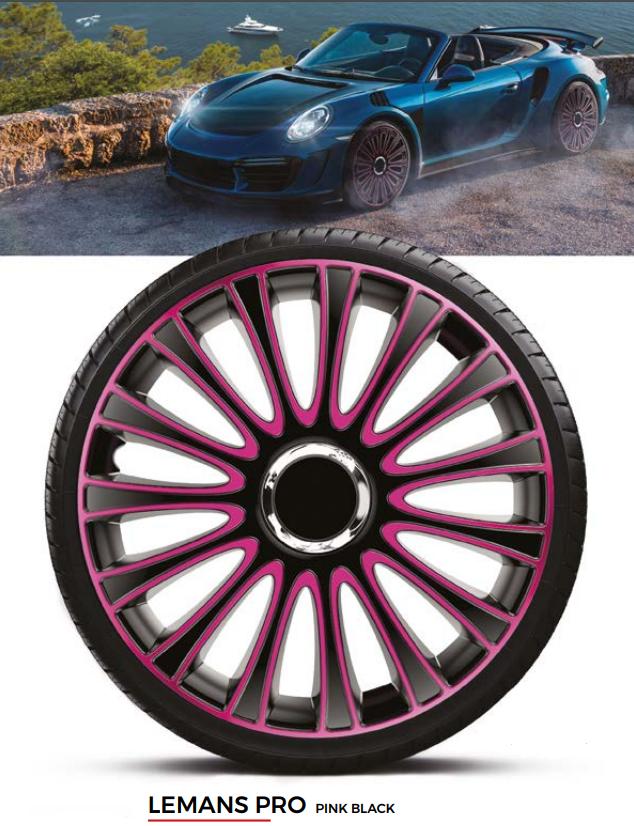 Колпаки колесные Lemans Pro Pink Black R13